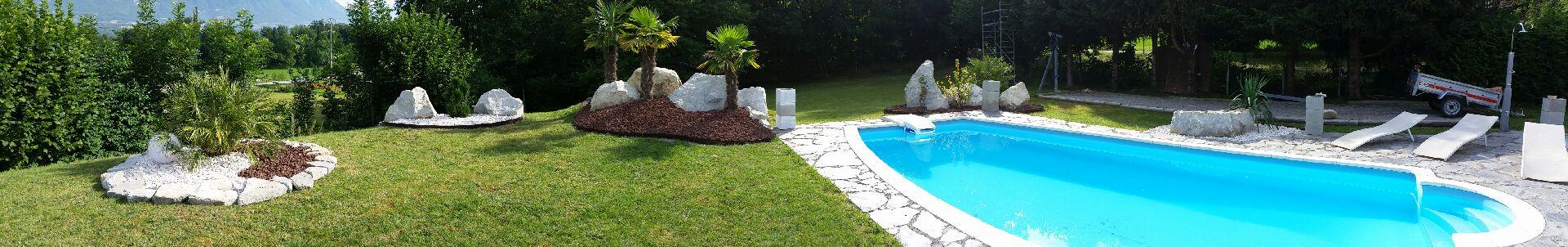 Am nagement ext rieur bron jardin paysager jfl paysage for Implantation jardin paysager